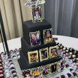 Segunda festa de Neymar teve ostentação de comida japonesa, bolo de três andares decorado com fotos de vários momentos de sua carreira futebolística e docinhos brasileiros
