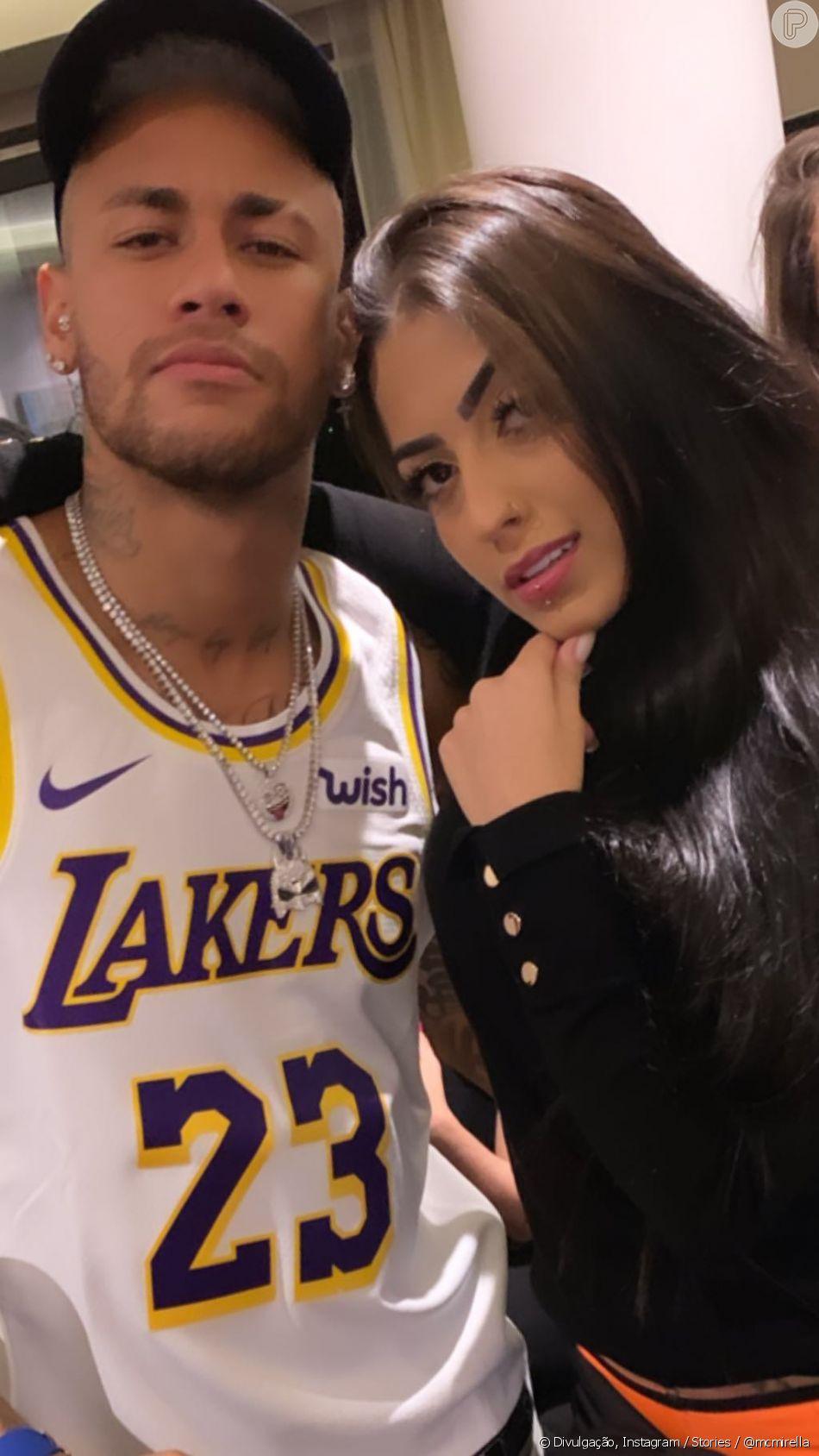 Neymar convidou as funkeiras MC Mirella e Tati Zaqui para sua segunda festa de aniversário