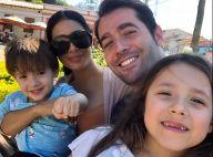 Simaria mostra marido, Vicente, e filhos, Pawel e Giovanna, em foto: 'Família'