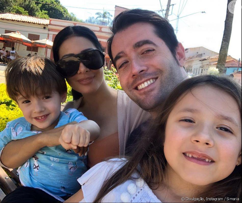 Marido e filhos de Simaria roubam a cena em foto com cantora