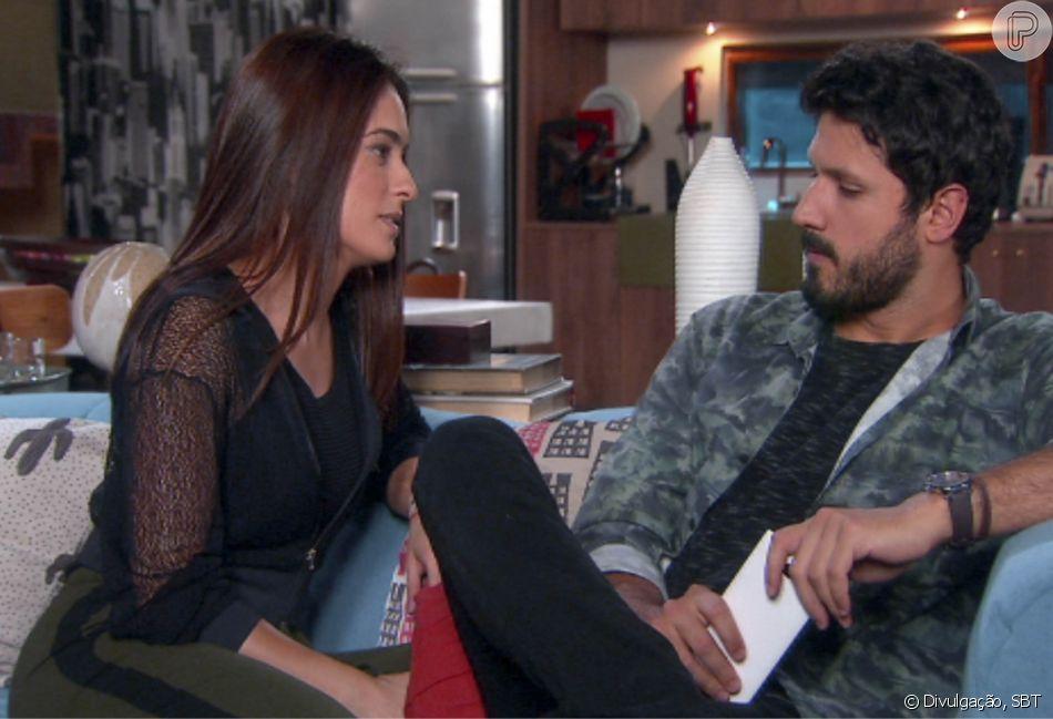 A relação de Débora e Marcelo ficará abalada após ele desconfiar de uma soposta traição, na novela 'As Aventuras de Poliana'.