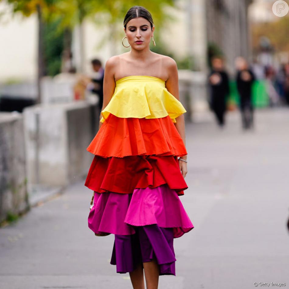 Resultado de imagem para vestidos babados street style