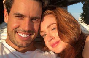 Marina Ruy Barbosa posta clique com marido e é elogiada: 'Linda sem maquiagem'