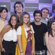 Maisa Silva encontra Sergio Malheiros e Fernanda Paes Leme em pré-estreia. Fotos