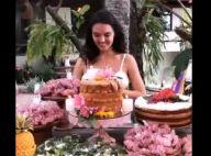 Isis Valverde faz festa de 32 anos em Trancoso e abocanha bolo em festa. Vídeo!