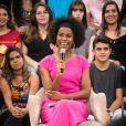 Maria Júlia Coutinho fez sua estreia na bancada do 'Jornal Nacional', telejornal da TV Globo, no sábado,  16 de fevereiro de 2019