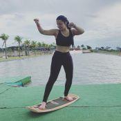 Maraisa, de top e legging após aula de wakeskate, ganha elogios na web: 'Corpão'