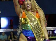 Look cavado e cabelo frisado: Galisteu se inspira em Anitta em Carnaval na Bahia