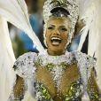 Quitéria Chagas é rainha de bateria da Império Serrano, primeira escola a desfilar no grupo especial na noite de domingo, 03 de março de 2019