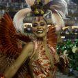 Juliana Paes é rainha de bateria da Acadêmicos do Grande Rio, terceira escola a desfilar no grupo especial na noite de domingo, 03 de março de 2019