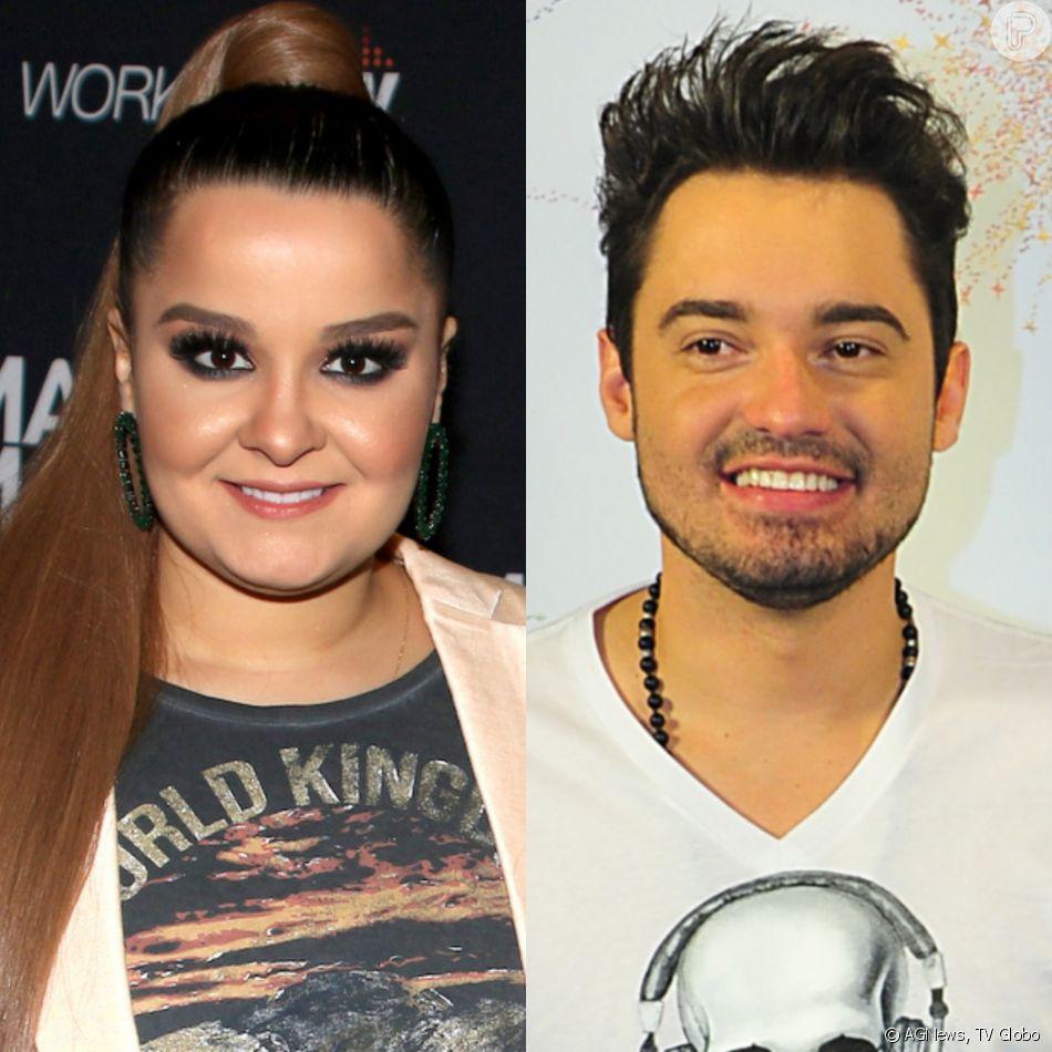 Maiara, da dupla com Maraisa, se declara para Fernando Zor durante transmissão ao vivo no Instagram, em 16 de março de 2019
