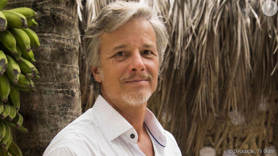 Marcello Novaes garantiu no programa 'Domingão do Faustão' de 24 de março de 2019 que o clima nos bastidores de 'O Sétimo Guardião' é muito bom