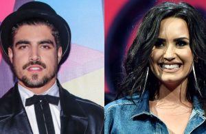 Demi Lovato surpreende fãs com follow para Caio Castro em rede social: 'Chocado'