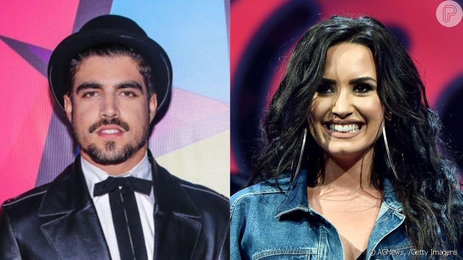 Caio Castro recebeu 'follow' de Demi Lovato no Instagram e agitou a web: 'Demi Lovato adora um brasileiro ne?! Já tá indo atrás do Caio Castro. Tá errada? Não tá'