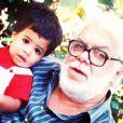 Manoel Carlos e Pedro Almeida quando ainda era criança. Pedro morreu de mal súbito em Nova York