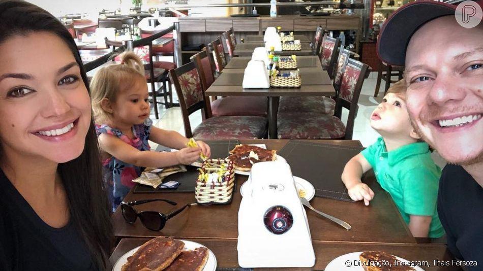 Thais Fersoza compartilha momento fofo em família ao tomar café da manhã, nesta quarta-feira, dia 10 de abril de 2019