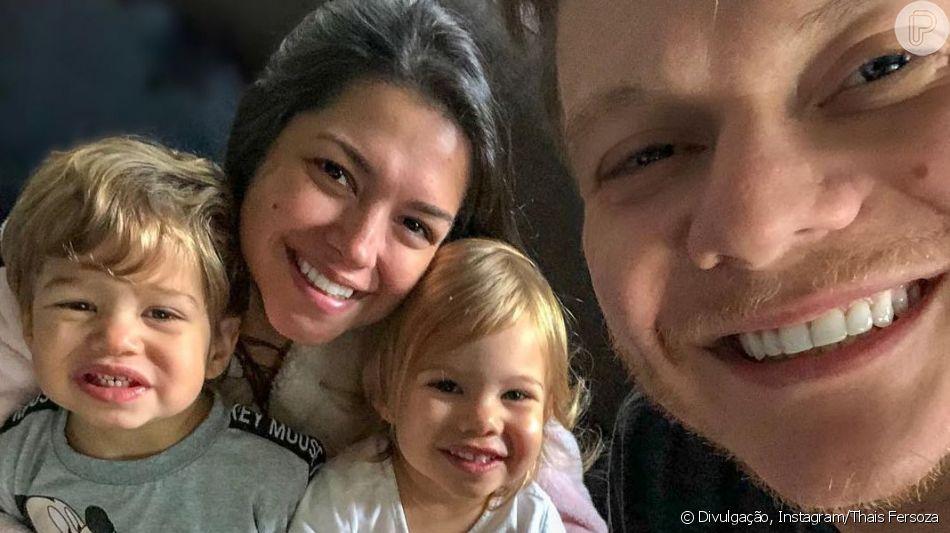 Thais Fersoza faz 35 anos e ganha café da manhã dos filhos e de Michel Teló, como contou em vídeo neste sábado, dia 13 de abril de 2019