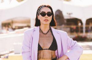 Looks do Coachella: animal print, bermuda ciclista, calça transparente e luvas!
