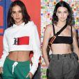 Bruna Marquezine e a modelo Kendall Jenner, irmã de Kim Kardashian, lembram uma à outra, principalmente o estilo de cabelo.