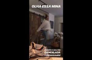Sasha Meneghel diverte amiga ao dançar para comemorar dia sem aula. Vídeo!