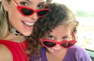 Thyane Dantas combina óculos com filha e caçula rouba a cena: 'Wesley mirim'