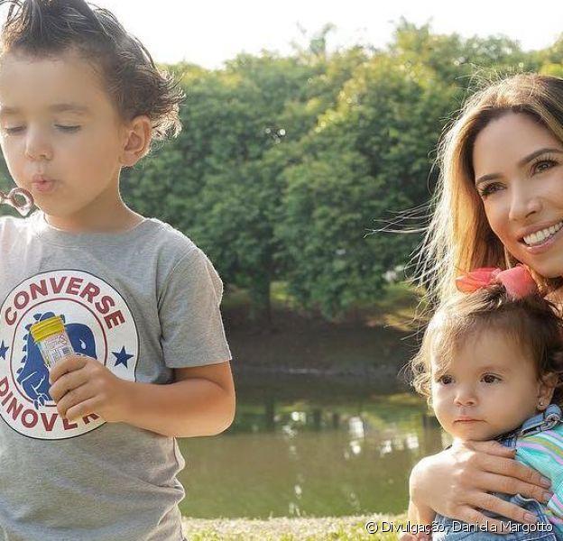 Patricia Abravanel mostrou foto dos filhos, Pedro e Jane, invadindo a maca antes dela ser levada para a sala de cirurgia e dar à luz Senor