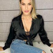 Andressa Suita choca web em foto de lingerie:'Mãe de 2 filhos e um corpão'