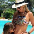 Grávida da segunda filha, Ticiane Pinheiro deixou a filha, Rafaella, escolher o nome da irmã: 'Manuella'