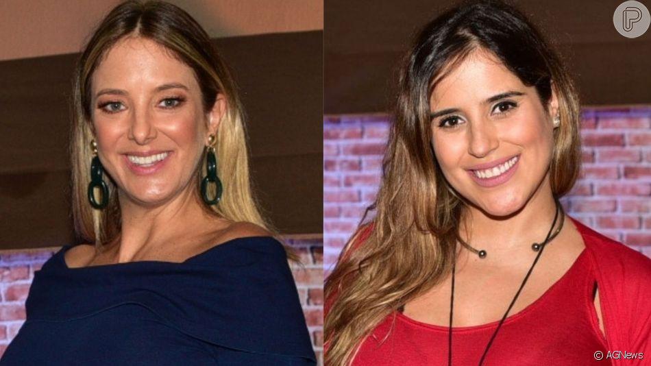 Grávidas, Ticiane Pinheiro e Camilla Camargo trocaram presentes