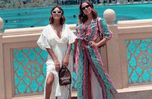 Look de cobra e pochete YSL: Anitta inicia férias com muito estilo em Dubai