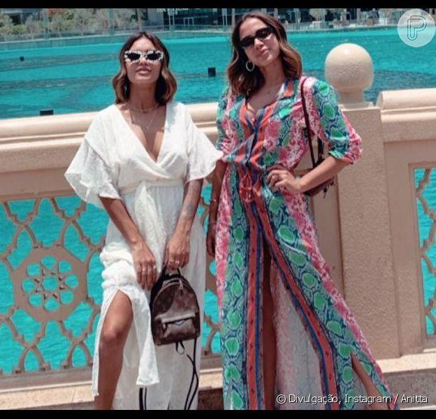 Anitta inicia férias em Dubai, nos Emirados Árabes, com a amiga Jéssica de Sá