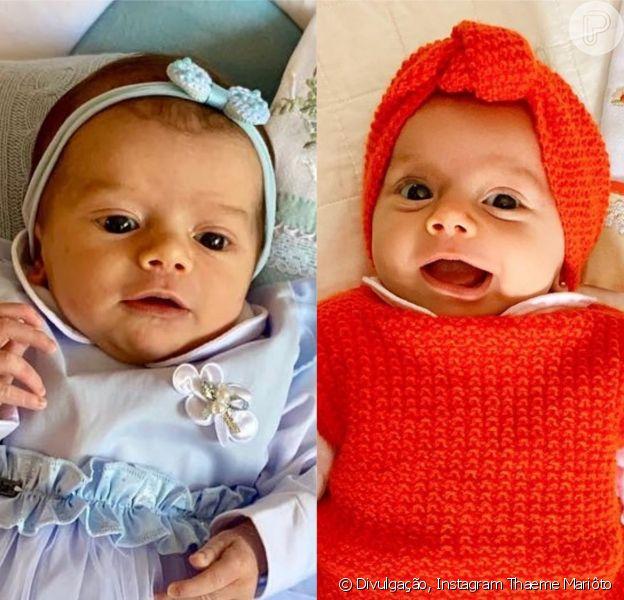 Filha de Thaeme, Liz, de 1 mês, esbanja fofura em cada foto postada pela mãe. Confira a galeria!
