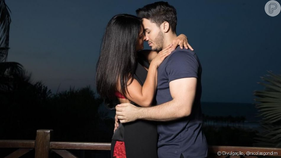 Mileide Mihaile e Wallas Arrais posaram juntos para campanha de Dia dos Namorados