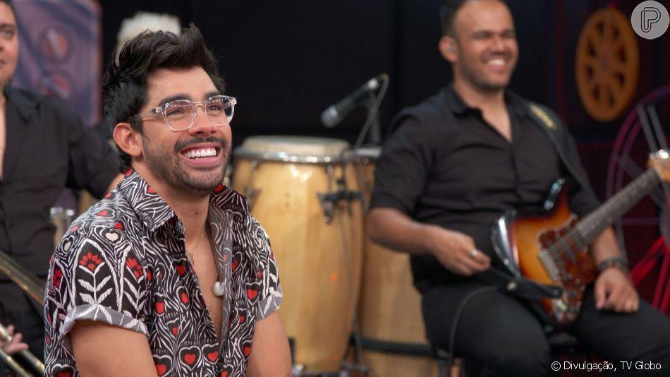 Gabriel Diniz fala sobre a namorada durante gravação inédita do 'Altas Horas' que foi ao vivo neste sábado, 01 de junho de 2019