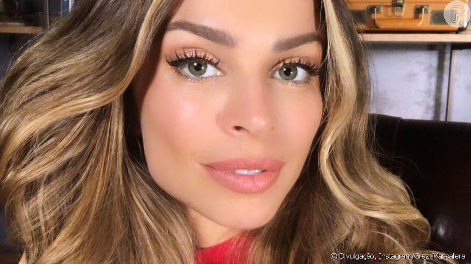 Grazi Massafera faz maquiagem sozinha e resultado ganha elogios em foto nesta quarta-feira, dia 05 de junho de 2019