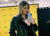 Total black: Marilia Mendonça combina look com batom preto em foto. Inspire-se!