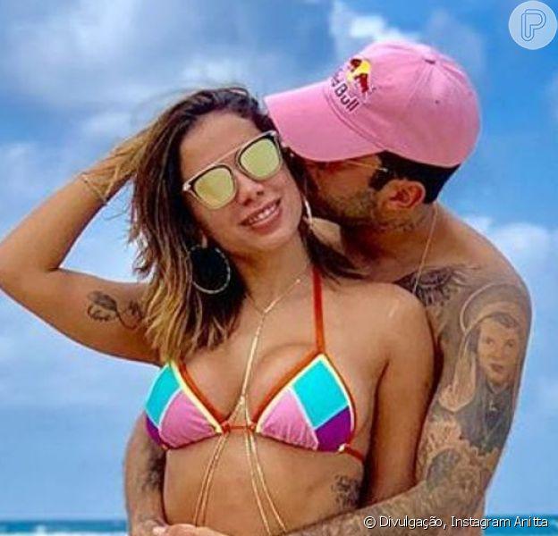 Anitta e Pedro Scooby trocaram declarações no 1º Dia dos Namorados juntos: 'Meu coração está radiante de alegria porque o destino te trouxe mais uma vez para minha vida'