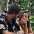 Anitta ganhou declaração de amor do namorado, Pedro Scooby: ' Com tantas qualidades, os defeitos ficaram insignificantes! Te amo '