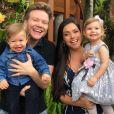Michel Teló e Thaís Fersoza são pais de Melinda, de 2 anos, e Teodoro, de 1