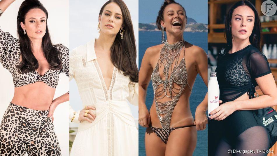 É trend! Paolla Oliveira e figurinistas avaliam estilo de Vivi Guedes em entrevista ao Purepeople nesta quinta-feira, dia 13 de junho de 2019
