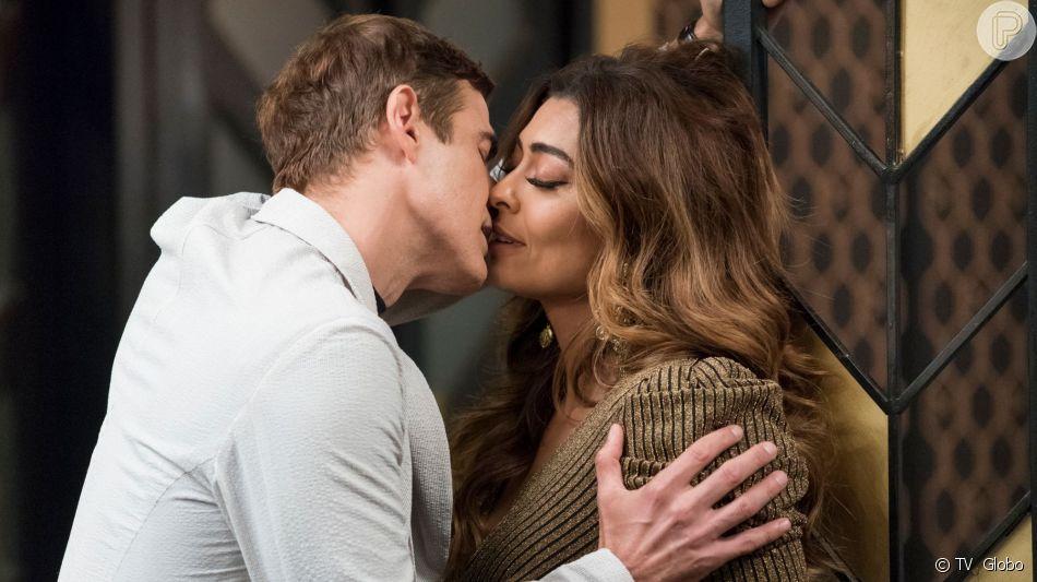 Na novela 'A Dona do Pedaço', o casamento de Maria da Paz (Juliana Paes) e Régis (Reynaldo Gianecchini) vai ser marcado por uma chuva de problemas.
