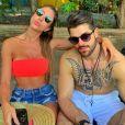 Alok e Romana Novais estão casados há cinco meses