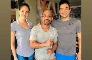 Thyane Dantas combina look fitness com Wesley Safadão: 'Para treino'. Foto!