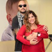 Camilla Camargo deixa maternidade com look combinando com filho, Joaquim. Fotos!