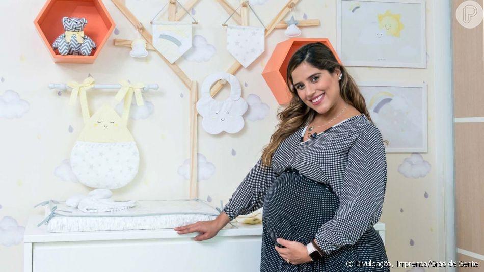 Camilla Camargo mostrou pela primeira vez o rostinho do filho, Joaquim, em seu primeiro mêsversário: 'Minha vida se transformou por completo'