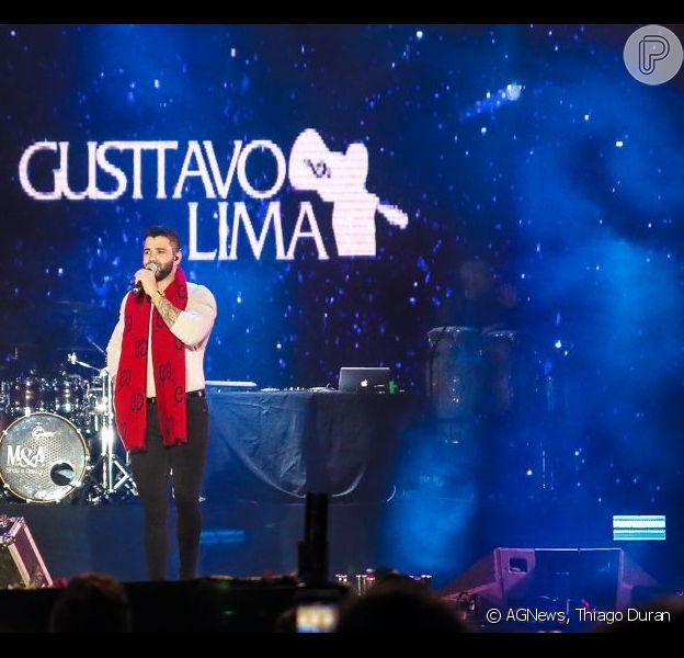Gusttavo Lima anuncia pausa na carreira durante show na Festa de Peão de Barretos, em 25 de agosto de 2019