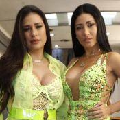 Neon é trend! Simone e Simaria apostam em looks decotados para Brazilian Day
