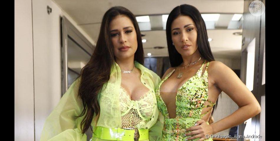 Simone e Simaria apostam em verde neon para looks no Brazilian Day, em Nova York, em 1º de setembro de 2019