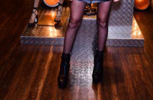 Look rocker! Agatha Moreira aposta em saia e jaqueta de couro em evento de moda
