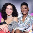 Erika Januza se reúne em evento da Beauty Fair com Kéfera e Thaís Carla
